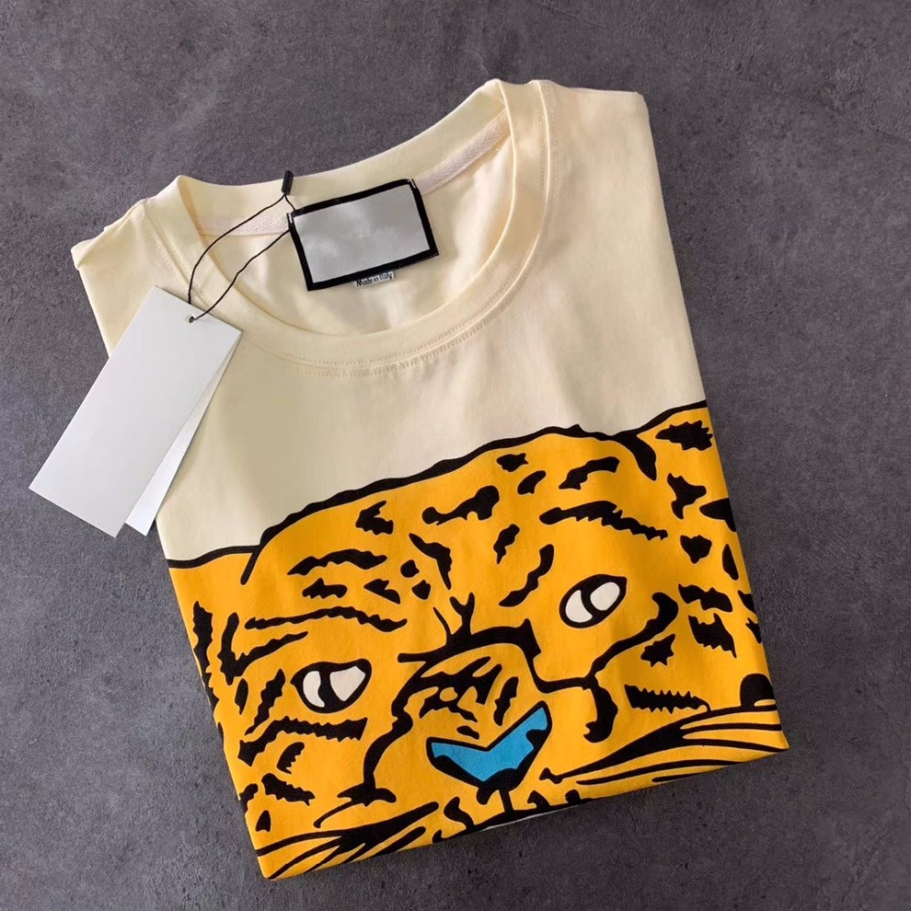 Summer T Shirts Casual Cotton Tiger Letter Print Tops Tee Fashion Streetwear Men And Women Unisex T Shirt Have Logo