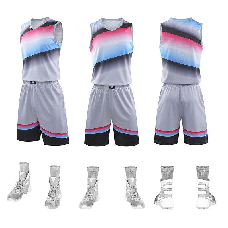 gradiente basquete jérsei & shorts uniforme da equipe sem mangas agasalho