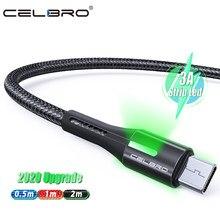 50cm/1m/2m usb tipo c cabo de carga rápida 3a náilon trançado longo kabel usb c cavo usbc qc3.0 para samsung s20 ultra s10 5g xiaomi 10