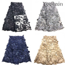 5 yards Fashion sequin 3D african lace fabric Embroidered flower lace fabric sewing DIY trim applique Ribbon dress guipure decor 20cm wide new colorful embroidery flower lace collar fabric sewing applique diy ribbon trim wedding dress guipure new year decor