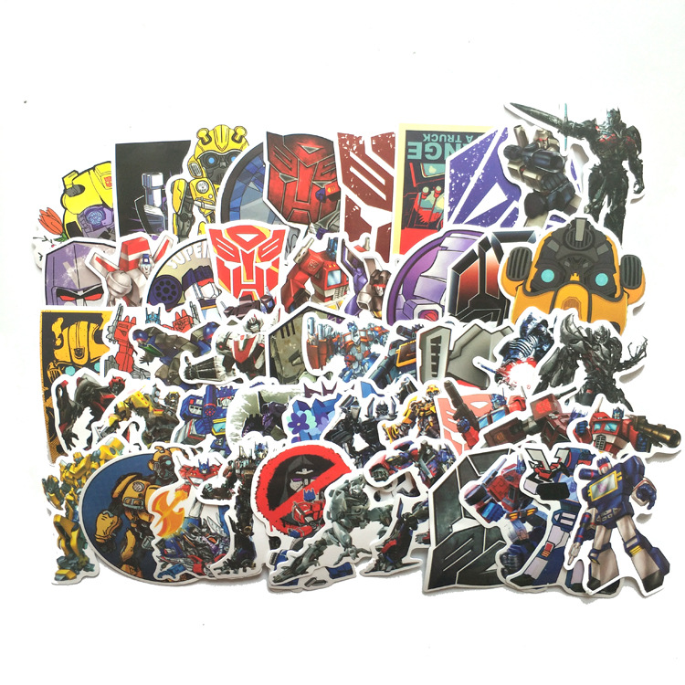 50pcs Optimus Prime Logo Sticker 2020 Decal Decor For Suitcase Laptop Skateboard Stickers DIY Toy Waterproof Decals