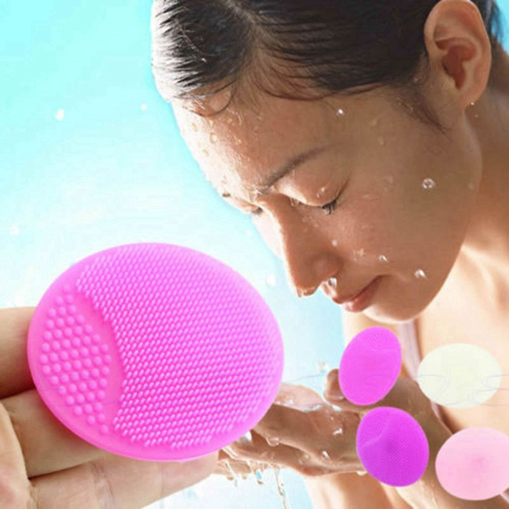 1PC Soft Silicone Facial Cleansing Brush Face Washing Exfoliating Blackhead Brush Remover Skin SPA Oval Scrub Pad Cleansing Tool