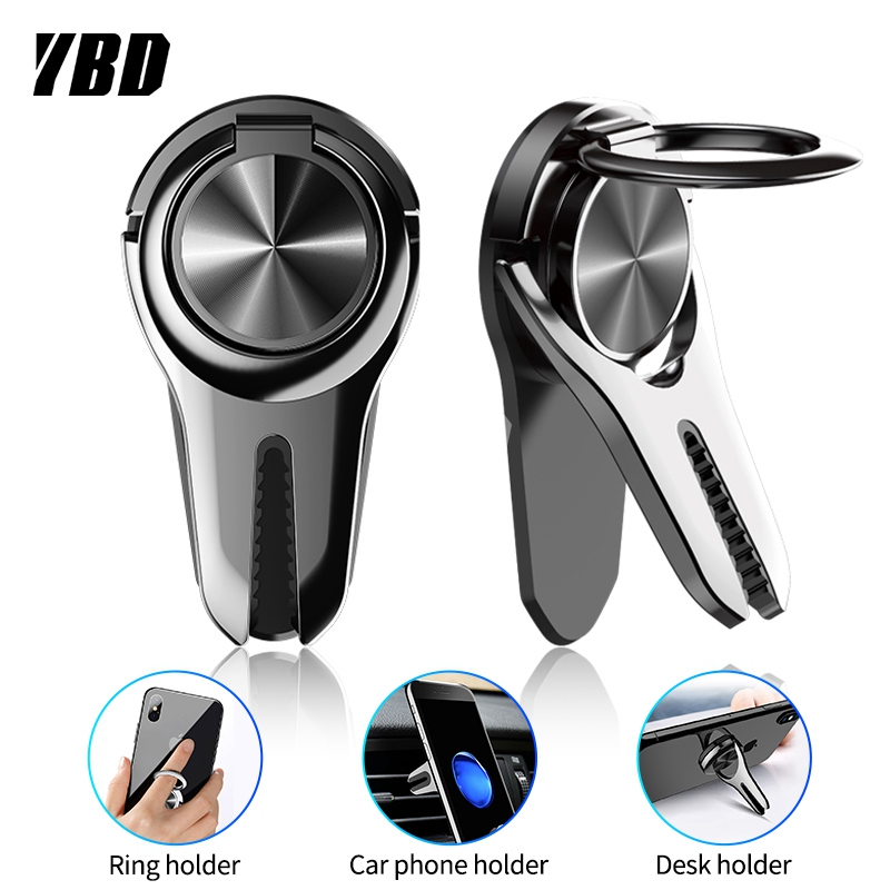 YBD Car Phone Holder Air Vent Mount Holder For IPhone Samsung Redmi Note 7 Car Mobile Support Holder For Phone In Car Ring Stand
