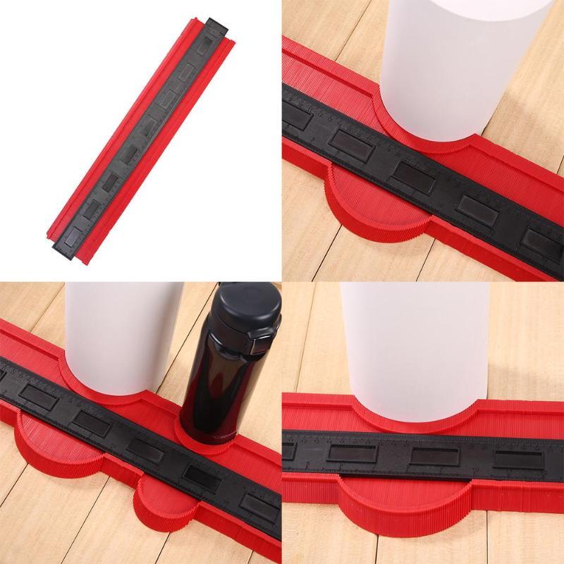 10inch Contour Profile Gauge Tiling Laminate Tiles Edge Shaping Wood Measure Ruler ABS Contour Measuring Ruler