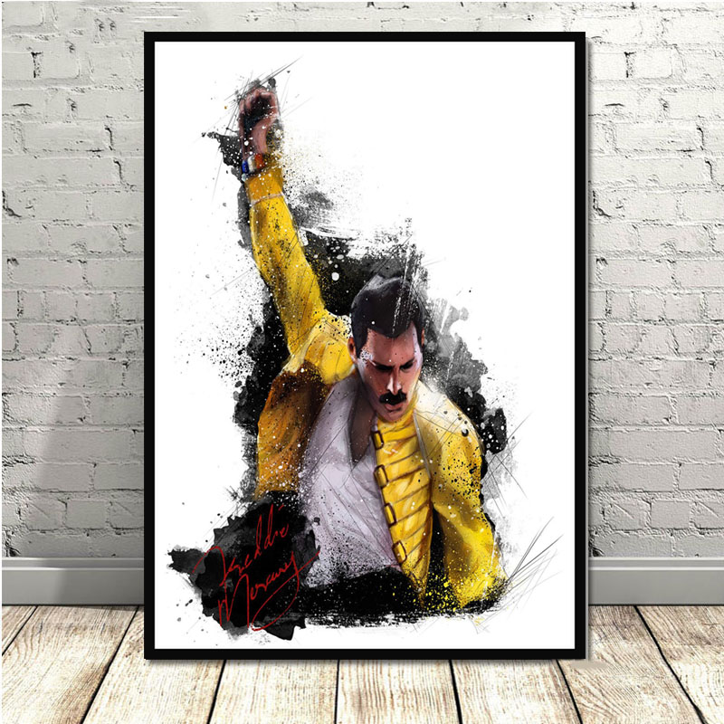 Freddie Mercury 4 Photo Queen Rock Band Legend Picture Vintage Music Poster