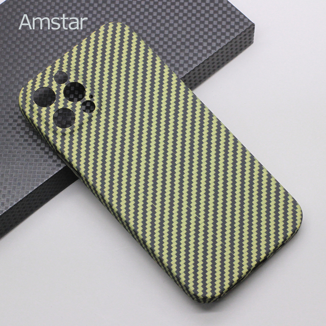 Amstar Pure Carbon Fiber Lens Protection Phone Case for iPhone 12 11 Pro Max 12 Mini Ultra Thin Carbon Fiber Hard Cover Cases 2