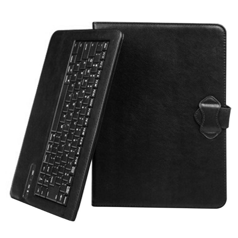 Wireless Bluetootht Keyboard Mini Tablet Leather Case PU Strong Compatibility Sweat Heat Absorption for iOS/Android/Windows