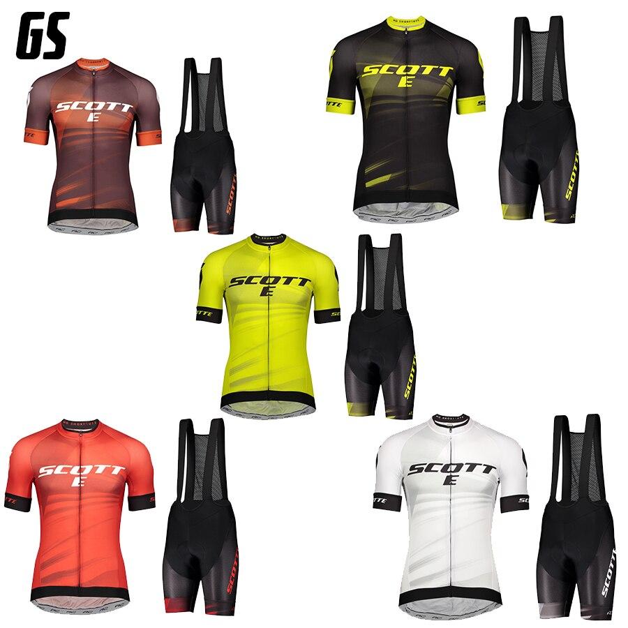 2021 verão pro equipe scotte men triathlon ciclismo camisa mtb bib shorts conjunto ropa ciclismo roupas de bicicleta ternos do esporte wear