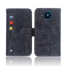 Hot! Dla Nokia 8.3 5G Case luksusowy portfel odwróć skórzany pokrowiec etui na telefon Nokia 8.3 5G z przednim gniazdem na karty