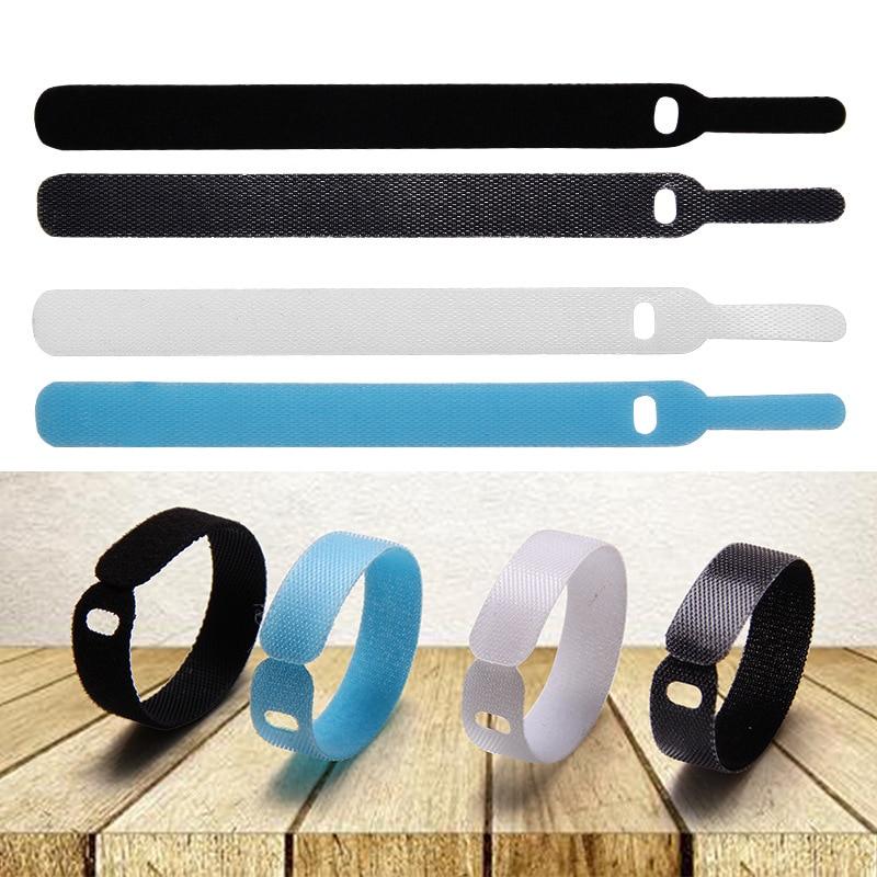 5pcs/lot Fishing Rod Tie Reusable Nylon Holder Strap Suspenders Rod Belt Hook Loop Fishing Accessories Fish Tackle