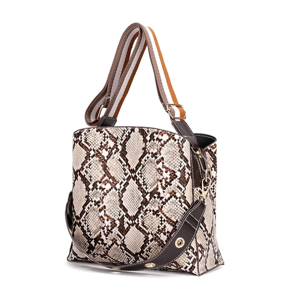 High Capacity Women Bag Retro Tote Ladies Casual Leopard Shoulder Bag Foldable Reusable