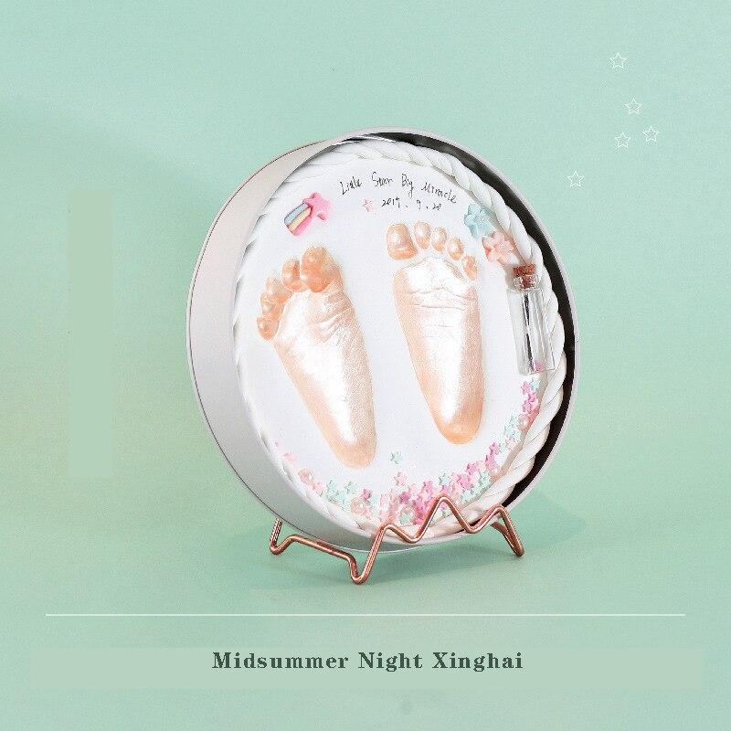Fashion Baby footprint Newborn souvenir Baby Care Air Drying Soft Clay DIY Babies hand foot Imprint baby gift baby photo frame