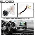 ZJCGO Автомобильная камера заднего вида для парковки  обновленная оригинальная автомобильная OEM монитор для Mazda 3  Мазда 3  хэтчбек BM 2013 ~ 2017
