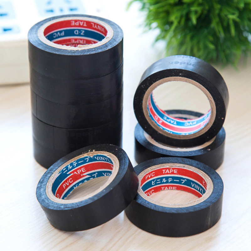 Black Electrician Wire Insulation Flame Retardant Plastic Tape Electrical High Voltage PVC Waterproof Self-adhesive Tape