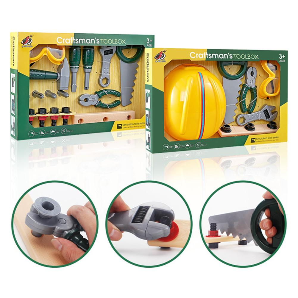 Kids Repair Tool Set Pretend Play Construction Tool Workshop Kit DIY Playset Toys For Boys Toddlers Children