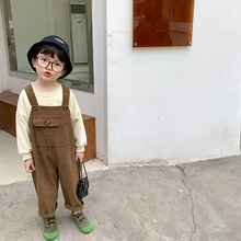 Overalls Trousers Suspender Baby-Boys Loose for Spring Fashion Corduroy Kids Casual All-Match