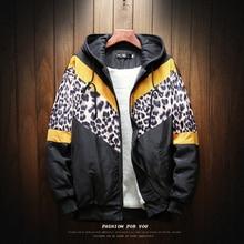 Winter Jacket Men Warm Plus Velvet Thick Parka Fashion Leopard Streetwear Loose Cotton Hooded Coat Man Clothes S-4XL