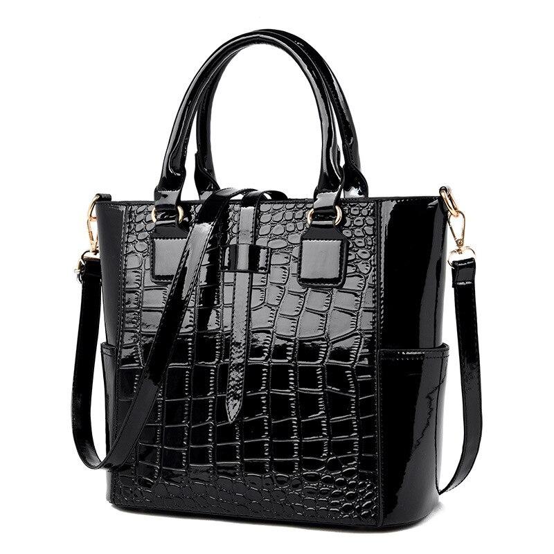 2020 New Vintage Handbag Crocodile Pattern Shoulder Messenger Bag PU Leather Large Capacity Designer Bag Famous Brand Women Bags