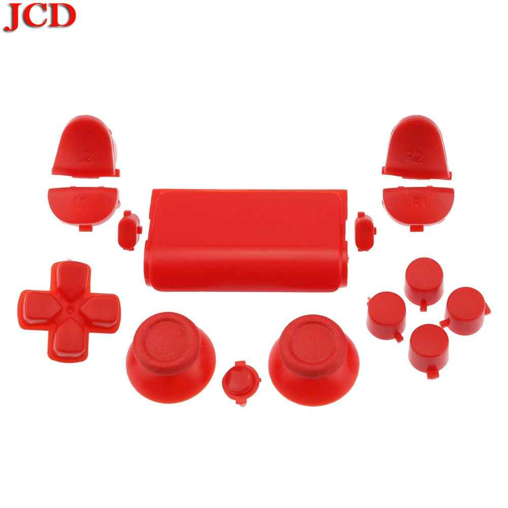 Jcd Baru Tombol Kit untuk PS4 2.0 Controller Custom Suku Cadang Chrome Gloss Warna Solid Luminous 2.0 Versi Merah Penuh set