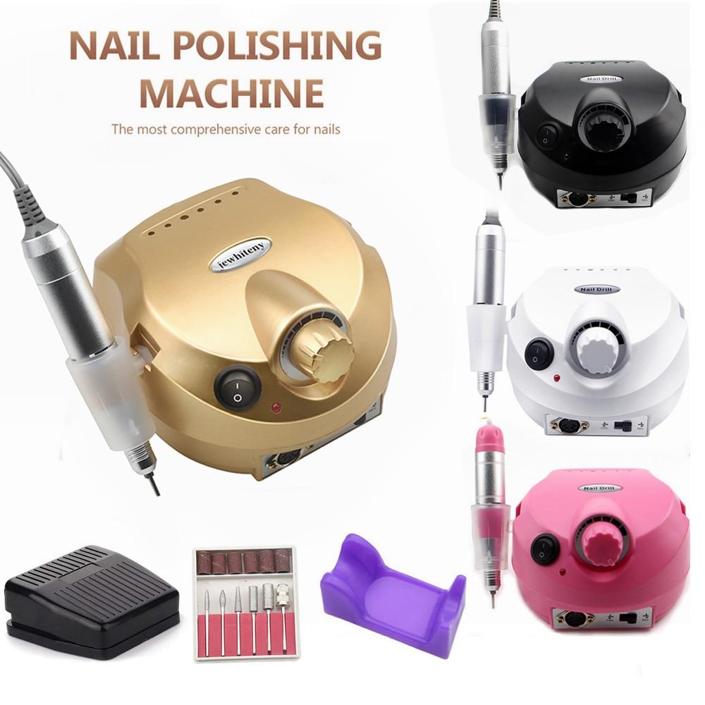 Nagel Bohrer Maschine 35000RPM Pro Maniküre Maschine Gerät für Maniküre Pediküre Kit Elektrische Datei mit Cutter Nail art Werkzeug