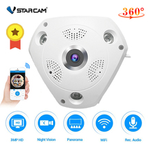 Vstarcam C61S 360 מצלמה IP 3MP עין דג פנורמי 1080P WIFI CCTV 3D VR וידאו IP מצלמת מיקרו SD כרטיס אודיו מרחוק בית ניטור