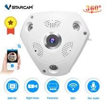 Vstarcam c61s 360 câmera ip 3mp olho de peixe panorâmica 1080p wifi cctv 3d vr vídeo ip cam micro cartão sd de áudio remoto monitoramento em casa