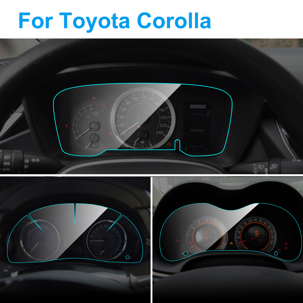 Car Instrument Panel Screen Protector For Toyota Corolla Auto Interior Dashboard Membrane Protective TPU Film Car Accessories