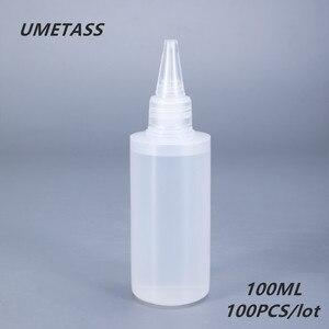 Image 1 - UMETASS 100 مللي جولة البلاستيك الغراء زجاجة ل جيل للأظافر فارغة ضغط حاوية البولي ايثيلين ل الغراء الحبر السائل 100 قطعة/الوحدة
