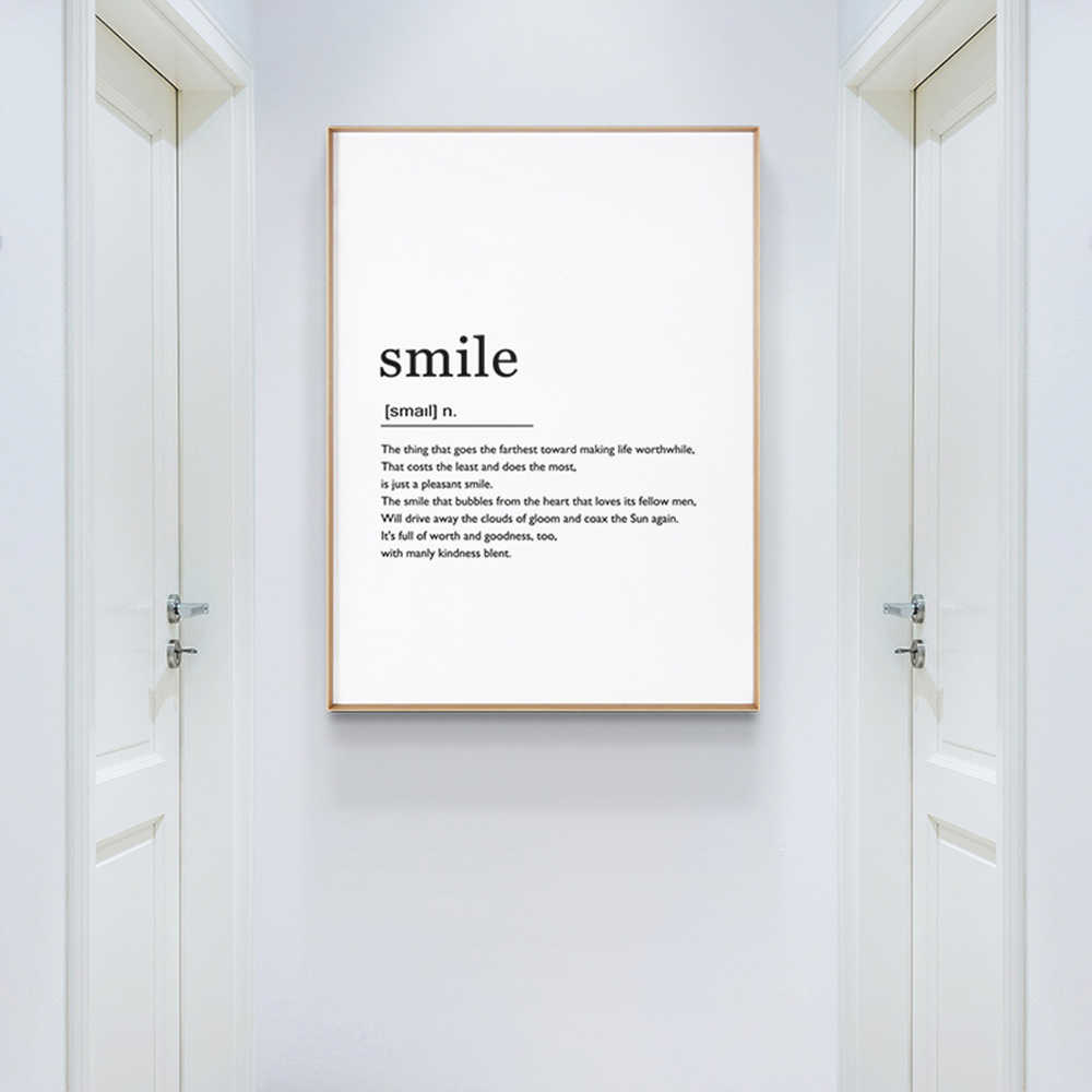 Modern Sentence Quote Posters And Prints Pictuer On The Wall Canvas Painting Wall Pictuers For Living Room Beeroom Decor