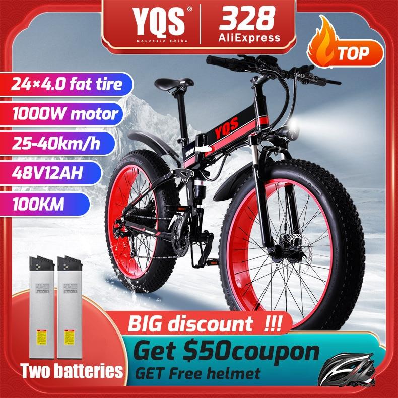 electric bike 1000W New Super Neve Snow bike  Electric Bike Ebike 48 V electric bicycle Increase tires|Electric Bicycle| |  -