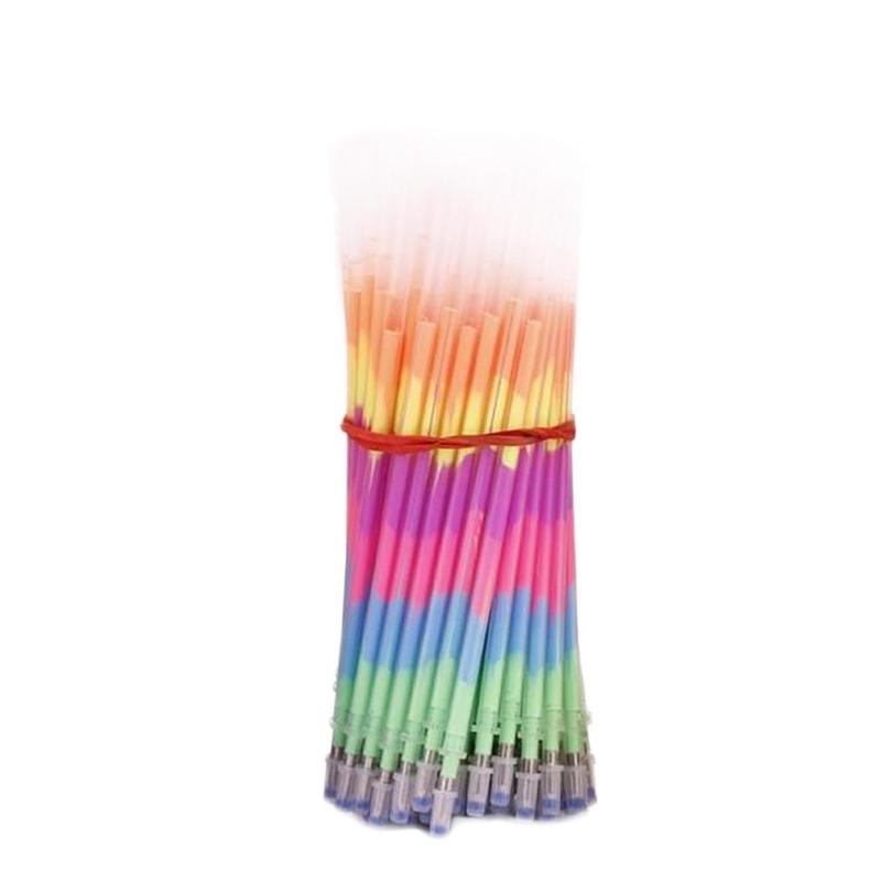 12pcs Rainbow Multicolored Highlighter Core Student Graffiti Multi-Color Fluorescent Fill