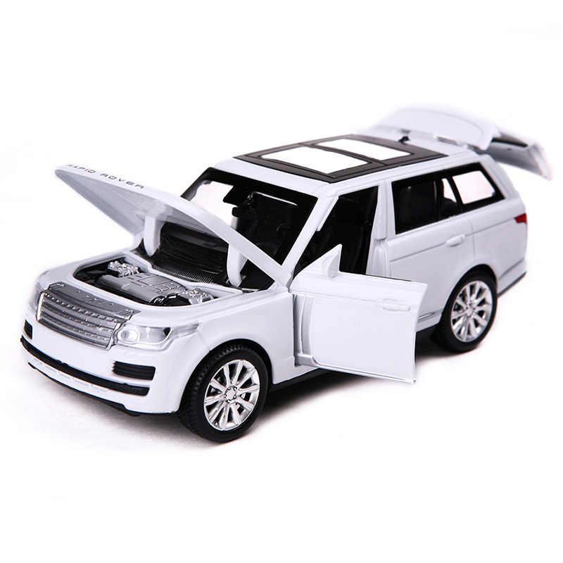 نوع جديد 4 ألوان سبيكة سيارة صغيرة لاندروفر المدى قوالب طراز السيارة 1:32 سيارات لعب توميكا ماجيك المسار سيارة لعبة هدية للبنين