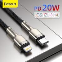 Cavo USB C Baseus per iPhone 12 Pro Max PD 20W cavo di ricarica rapida per iPhone 11 8 caricabatterie cavo USB tipo C per Macbook Pro