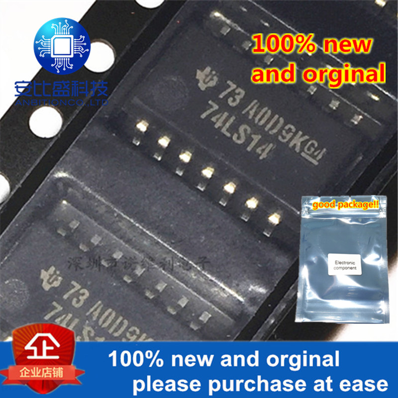 10pcs 100% New And Orginal SN74LS14 SN74LS14NSR 74LS14 HEX SCHMITT-TRIGGER INVERTERS SOP-14 In Stock