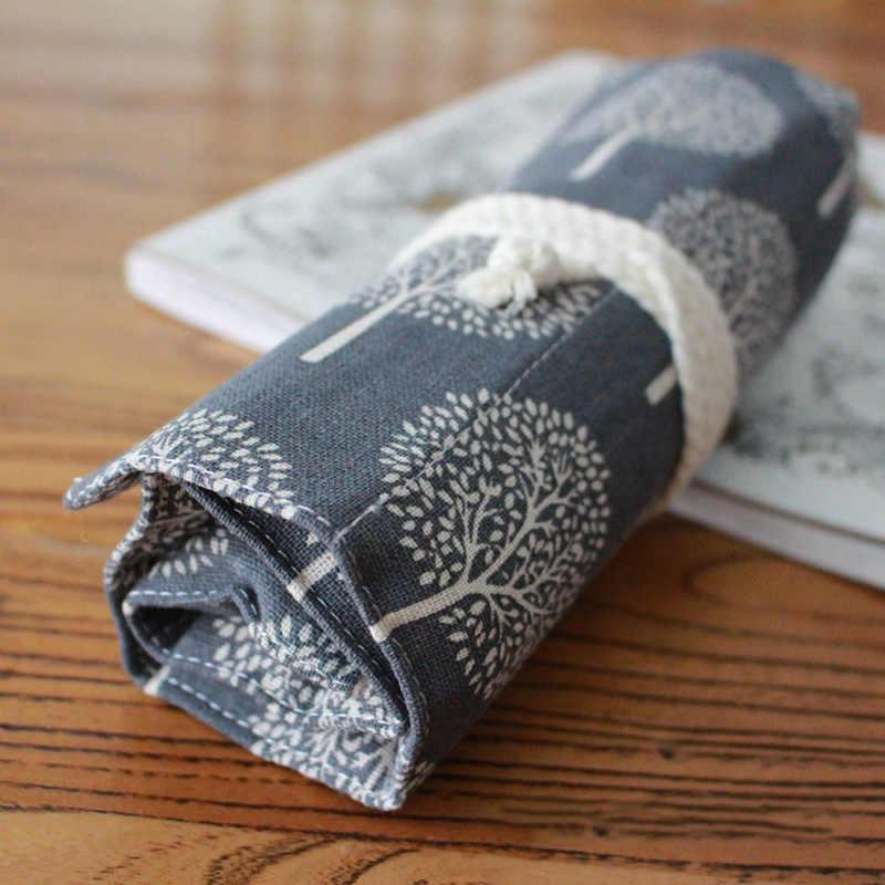 เกาหลีม้วนดินสอโรงเรียนใหญ่ 36/48/72 หลุม Penal สำหรับหญิง Pencilcase Kawaii Tree ปากกากระเป๋าขนาดใหญ่ตลับหมึกเครื่องเขียน