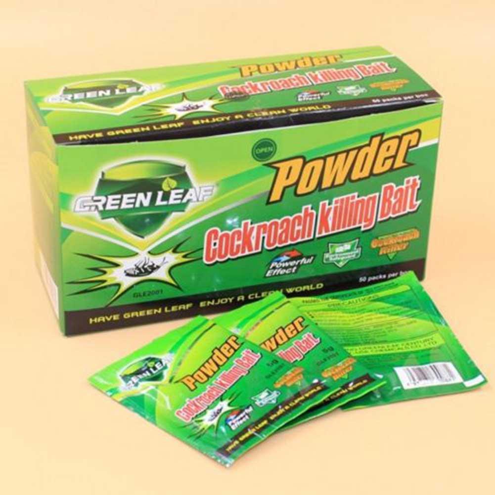 New 10 Packs Green Leaf Powder Cockroach Killer Bait Repeller Killing Trap Pest Control For Kitchen Effective Cockroach Killing