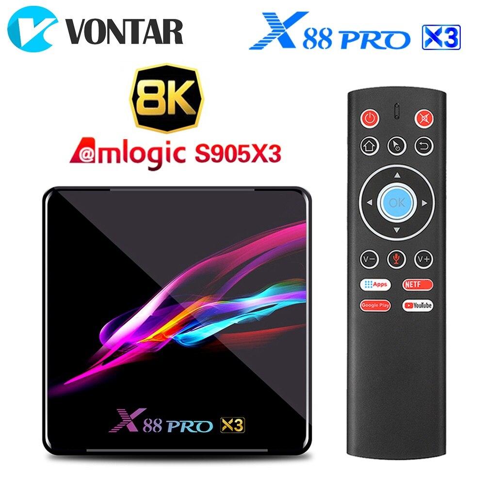 X88 PRO X3  Android 9 0 TV Box 4GB RAM 64GB 32GB Amlogic S905X3 Quad Core 1080p 4K Smart TV Set Top Box Media player TVBOX