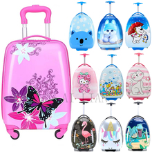 цена на HOT new kids travel suitcase spinner wheels rolling luggage Carry ons Cabin trolley luggage bag Cute child gift bag case girls
