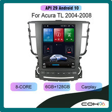 For Acura TL car multimedia player 04-08 TL GPS navigation 9.7 inch radio Android 10 6GB+128GB car system