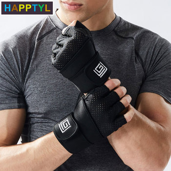 HAPPTYL Sports Lifting Gloves Palm Protection Great Pull Ups, Cross Training, Fitness, WODs & Weight lifting. Suits Men Women