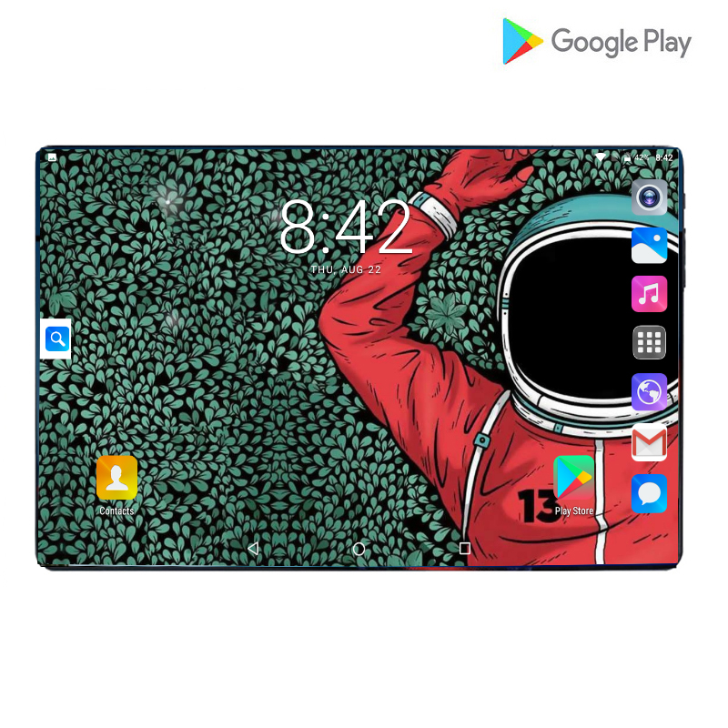 Newest Google Play Android 9.0 OS Ultra Slim 10 Inch Octa Core Tablets 10.1 6GB RAM 64GB ROM Dual Cameras Video Call Tablet 10.1