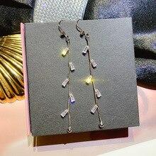 long tassel earrings, Korean temperament, exquisite fashion personality, simple trendy earrings