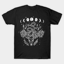 Men t-shirt Witchy Snakes And Crystals Gothic Punk tshirt Women t shirt(China)