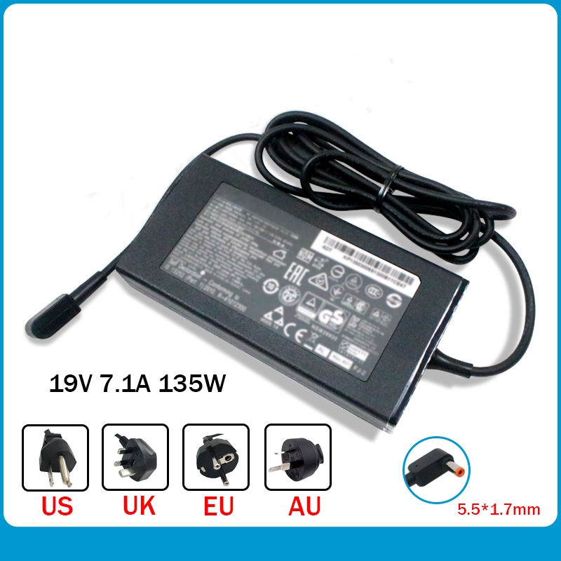 Slim 19V 7.1A AC Adapter KP.13503.007 PA-1131-16 Laptop Charger For Acer Aspire V5-591 V5-591G Nitro 5 Spin NP515-51