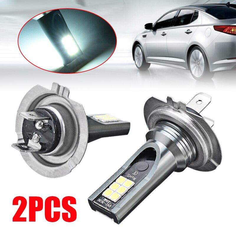 2pcs 110W 11000LM H7 LED Canbus Headlight Kit Hi/Lo Beam Car Headlamp Bulb Fog Lamps Bright White 6000K 9-32V