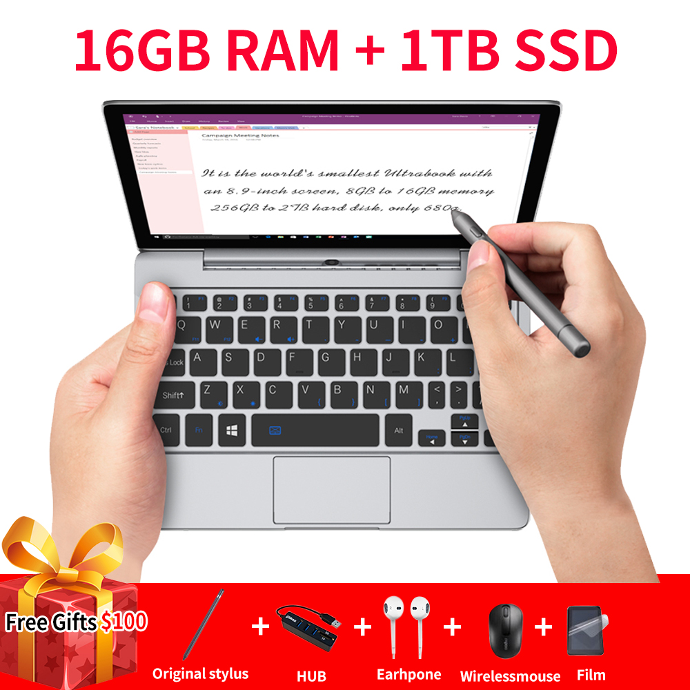 GPD P2 Max Pocket2 Pocketet 2 Max Mini PC Intel M3-8100Y Cpu Windows 10 16GB RAM 1TB SSD Pocket Mini PC Computer Laptop Notebook