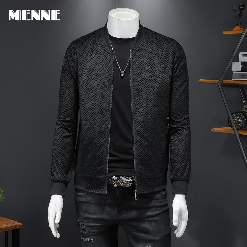 2021 New arrival Spring jacket men fashion Print Baseball collar Mens jacket Casual jacket for men