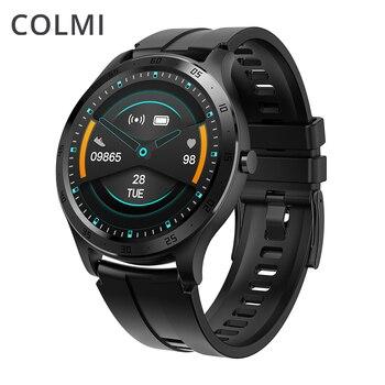 Colmi relógio inteligente dos homens de fitness rastreador ip67 à prova dip67 água pressão arterial relógio inteligente app 28 idiomas mulher smartwatch para iphone
