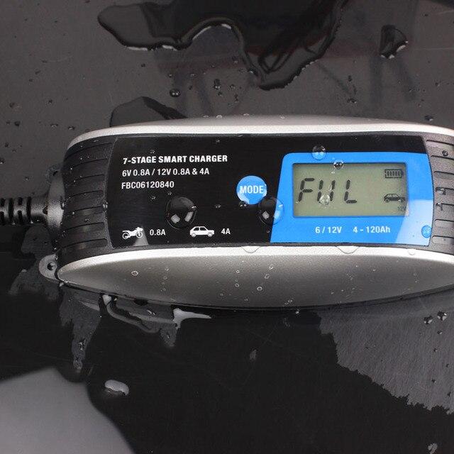 6 V 12 V Loodaccu Lader 7-stage Smart Car Charger met SAE connector, waterdichte buiten reparatie Batterij Oplader