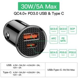 Image 3 - Baseus Quick Charge 4,0 3,0 USB Auto Ladegerät Für iPhone Xiaomi Huawei QC 4,0 QC 3,0 QC Auto Typ C PD Schnelle Auto Handy Ladegerät